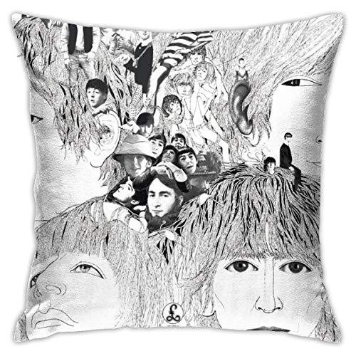 iksrgfvb Kissenbezug, Beatles Revolver Album Cover Sofa Auto Schlafzimmer Büro Dekoration Kissenbezug, Multi 45X45CM