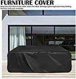 Fundas para muebles de patio, mesa de exterior, muebles de jardín, resistente al agua, resistente a la decoloración, protector para sillas rectangulares, 180 x 12, 250x250x90cm/98''x98''x35''