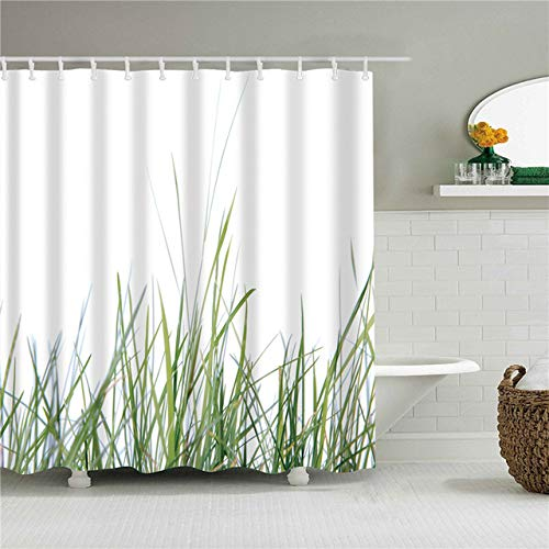 Bad Douchegordijnen Waterdicht scherm voor badkamer Woondecoratie Polyester stof Wasbaar gordijn Afrikaanse bladeren Prints, C0413,90X180cm