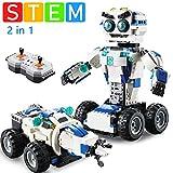 PETLUVER Robot Toys, Coding Robot Kit 2-in-1 DIY Building Science Experiment Kit for kids Aged 8-10+