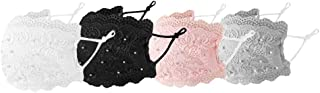 Liloee Fashion Women Lace Reusable Breathable Safe Protection Face Mask 4 Pcs