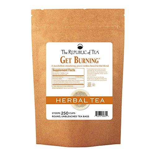 The Republic of Tea Be Active Green Rooibos Tea Get Burning - Herb Tea For Metabolism, 250 Tea Bags