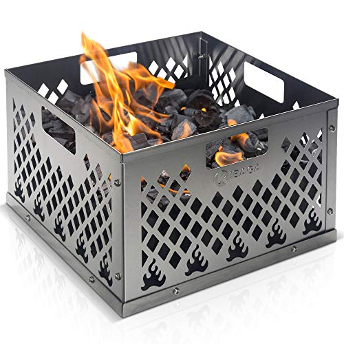 KIBAGA Stainless Steel Charcoal Firebox Basket for Oklahoma Joe's Smoker - Easy Clean Grill Accessories for Long Efficient Smoking - Taste The Ultimate BBQ and Smoking Experience