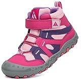 Mishansha Zapatillas de Senderismo Niños Ligeras Zapatos de Montaña Niño Niña Antideslizante Exteriores Calzado de Trekking Rosa Gr.27