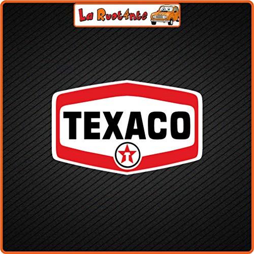 2 adhesivos Texaco (fabricados en vinilo) para coche, moto, Vespa, bicicleta, casco 6x3,5 Cm