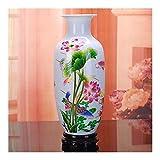 MMH Vaso in Ceramica Jingdezhen Vaso di Loto Moderno in Stile Cinese per Regali di Nozze Articoli per L'arredamento di Artigianato Domestico (Colore : 3)