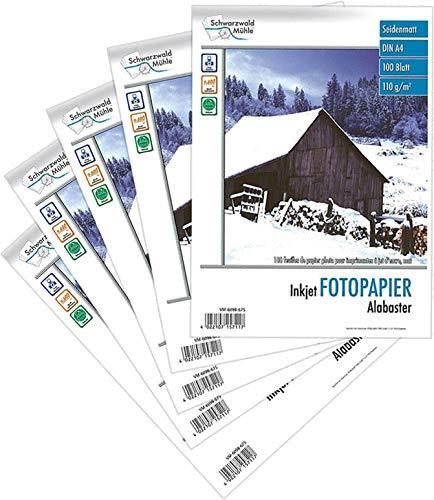 """Schwarzwald Mühle Fotopapier A4: 500 Blatt\""""Alabaster\"""" matt 110 g/m²A4 (Druckerpapier A4)"""