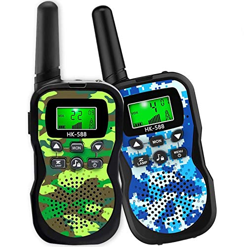 HLAOLA Kids Walkie Talkies,22 Channel 2 Way Radio Kid Gift Toy 3 Miles Range with Backlit LCD Flashlight Best Gifts Toys for Boys and Girls to Outside Adventure, Camping,Best Gift Toys for Kids