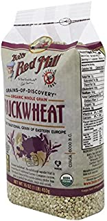 Bob's Red Mill Organic Gluten Free Buckwheat Groats, 16 Ounce (Pack of 4)