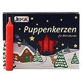 OLShop AG 2er Pack Puppenkerzen rot ca. 10 x 65 mm (2 x 20 Stück), Puppenlichter, Miniaturkerzen,...