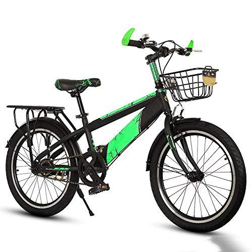 YUMEIGE Kinderfietsen 18 20 inch peuterfiets, mountainbike met achterstoel, mandje en ondersteunende voeten, kinderfiets voor 5-15 jaar oud 45