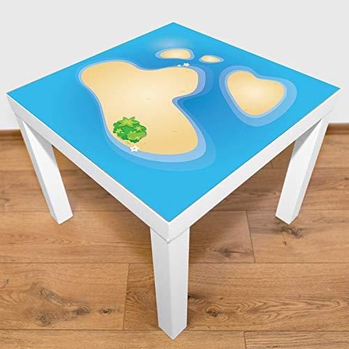Playmatt Tapis de Jeu pour Table ou Sol Petit Atoll Non Toxique, antidérapant, Lavable, 55 x 55 cm, s'adapte Parfaitement à la Table IKEA laquée