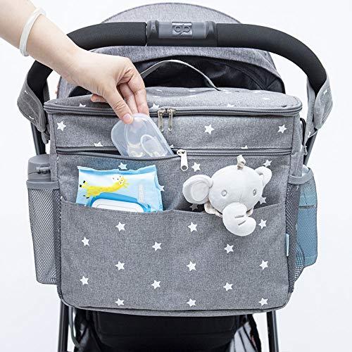 Orzbow Buggy-Organizer-Taschen, 22 l, großer Kinderwagen-Organizer, Kinderwagen-Organizer mit Getränkehaltern, verwendet als Mom Handtasche & Schultertaschen & Backbag