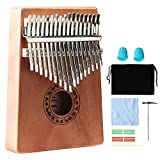 Kalimba 17 Keys Thumb Pianos,Portable Wood Finger Piano With Tune Hammer Instruction Book,Music Instrument Gift For Kids Adult Beginners Professional.(Kalimba 17 key)