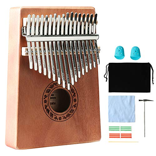 Kalimba 17 Keys Thumb Pianos Portable Wood Finger Piano With Tune Hammer Instruction Book,Music Instrument Gift For Kids Adult Beginners Professional. (Kalimba 17 key)
