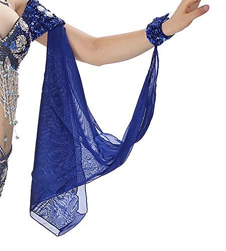 Bauchtanz Arm Ärmel Cosplay Performance Kostüm tragen mit Schmuck Armband Armbänder Erwachsene Fraue (Blau)