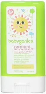BabyGanics, Cover Up Baby, Zinc Oxide Sunscreen Stick, 50+ SPF, Fragrance Free, 0.47 oz (13 g)