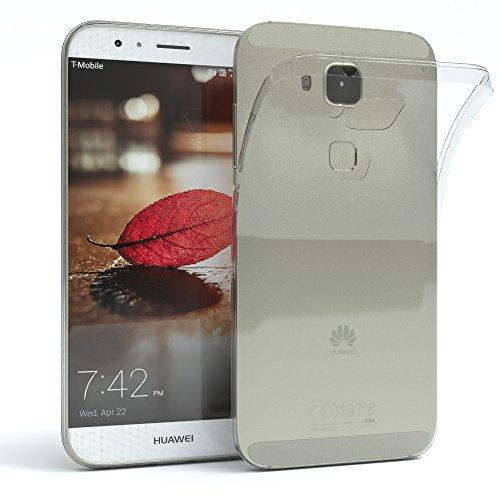 EAZY CASE Hülle kompatibel mit Huawei Ascend G620s Schutzhülle Silikon, Ultra dünn, Slimcover, Handyhülle, Silikonhülle, Backcover, Durchsichtig, Klar Transparent