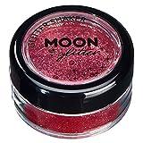 Secoueurs à paillettes fines par Moon Glitter (Paillette Lune) – 100% de paillettes cosmétique pour le visage, le corps, les ongles, les cheveux et les lèvres - 5g - Rouge