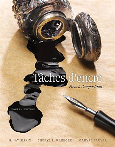 Taches d'encre: French Composition (World Languages)