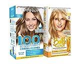 Duo produits Garnier - Belle Color Coloration Permanente 8.32 Blond Clair Miel + 100% Ultra Blond Balayage Cristal Mèches