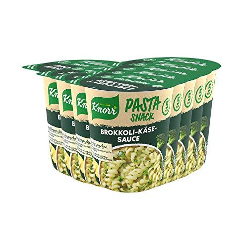 Knorr Pasta Snack Brokkoli-Käse-Sauce leckeres Nudelgericht fertig in nur 5 Minuten - 8 x 62 g Becher -, 496 g