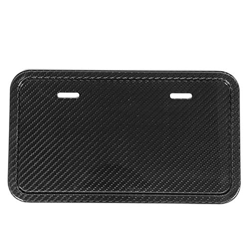 Aramox License Plate Frame, Short License Plate Frame Universal Holders Real Carbon Fiber Fit for Mustang/Explorer