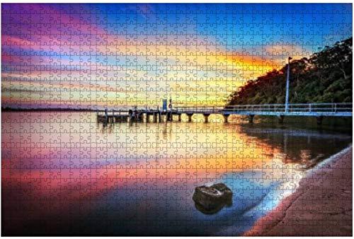 Aruba Beach Purple Color Sunset 1000 piezas Rompecabezas para adultos Juguete educativo para adultos Niños Juego de rompecabezas grande Juguetes Gift-PUZZLE9