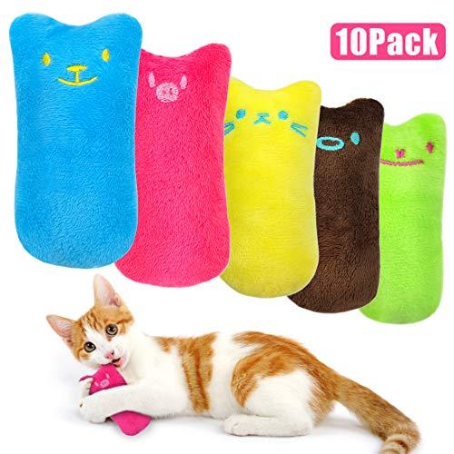 O-Kinee Katzenminze Plüsch Spielzeug 10 Stück Plüsch Daumen Geformt Katzenspielzeug Interaktive Kauen Spielzeug Catnip Toys Set Plüsch Spielzeug für alle Katzen und Kitten Geeignet (Katzenspielzeug)