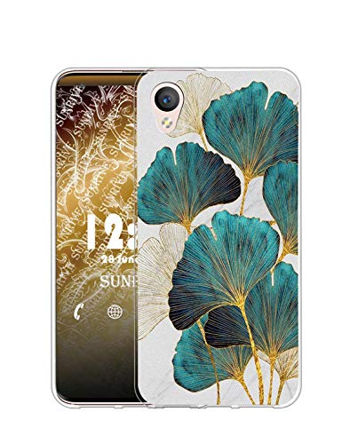Sunrive Kompatibel mit Alcatel Idol 4/BlackBerry Dtek50 Hülle Silikon, Transparent Handyhülle Schutzhülle Etui Hülle (Q Blatt)+Gratis Universal Eingabestift MEHRWEG