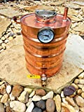Stampede Stills 3.3 Gallon Copper Moonshine Still Thumper Keg (Doubler) with 3' access port and Vertical piping.