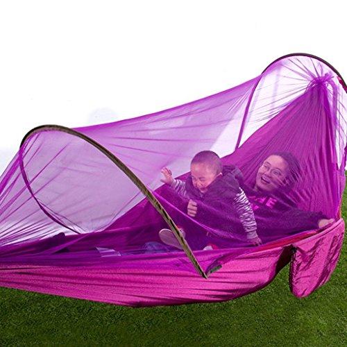 Hamacs Moustique Automatique balançoire intérieure en Plein air moustiquaire Jardin et Patio (Color : Pink, Size : 290 * 140cm)