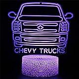 USB Acrílico LED Luz de noche Luz de ilusión 3D Modelo de coche Modelo de coche Decoración de dormitorio Lámpara de mesita de noche Amigos de los niños Cumpleaños Navidad Año nuevo Regalo táctil