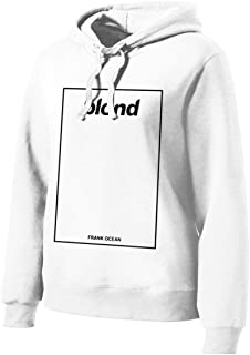 Womans Blond Frank Ocean Long Sleeve Funny Drawstring Hoodies White