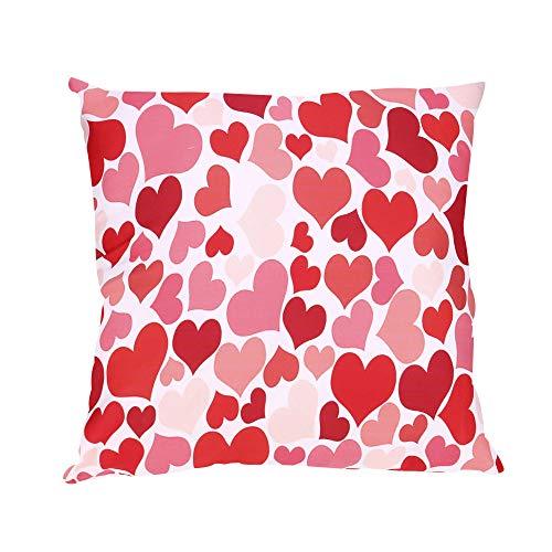 NEEDRA Lch Liebe Dich Valentinstag Romantisch Geschenk 45x45 cm Deko-Kissen Geburtstag/Bedrucktes Motiv-Kissen Mit Herzen