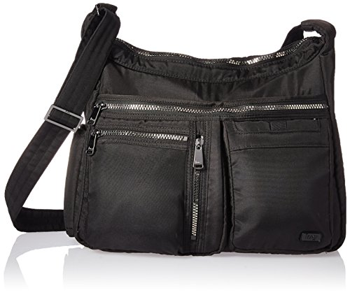 Lug Women's Double Dutch Crossbody Bag, Brushed Silver, One Size