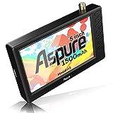 Aspure Pocket 5 InchPortableDigitalATSCTFTHDScreenFreeviewLEDMiniTVwith USB,TFCardInput.Built-inRechargeBatteryTelevision/MonitorforOutdoor -D5