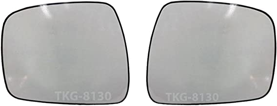 K1AutoParts 1 Pair Side Mirror Glass Lens Len For Nissan Navara Frontier D40 Pickup 2005-2013 (US and EU Model 2005-2009)