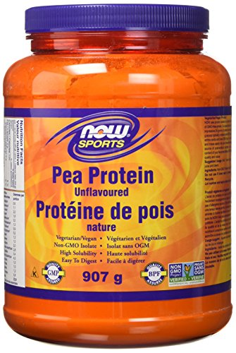 NOW Pea Protein Non-Gmo Vegan, Unflavoured, 907g