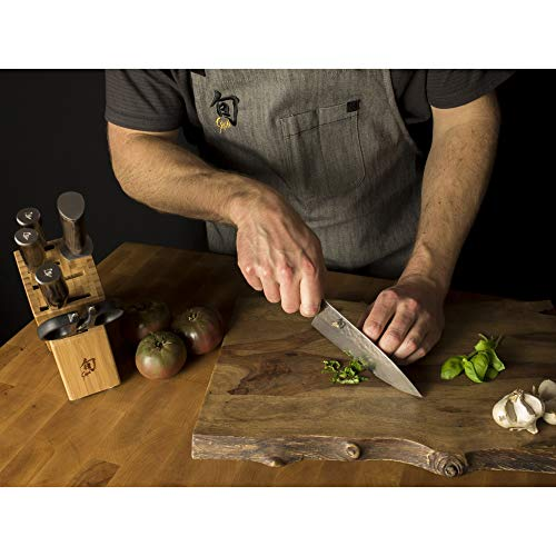 Shun Premier Chef Knife, 6 inch, VG-MAX Steel, Nimble and Lightweight, Handcrafted in Japan