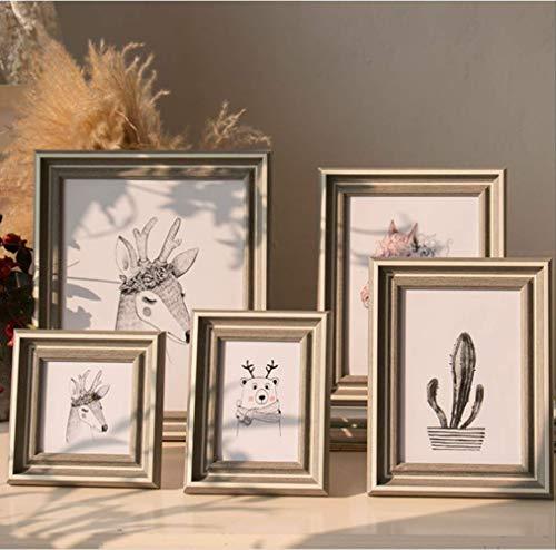Nieuwe foto frame vers pastorale foto frame creatieve muur opknoping tafel op maat gemaakt 20.3 * 25.3cm