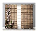 Goods247 Blackout Curtains,Grommets Panels Printed Curtains for Living Room (Set of 2 Panels,55 by 63 Inch Length),Rustic Home Decor