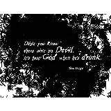 Wee Blue Coo Tom Waits God Devil Drunk Quote Art Print