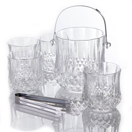 Gibson Home Bluffton 6-Piece Engraved Ice Bucket Set
