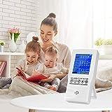 TTLIFE Monitor de calidad del aire, PM2.5 PM10 CO2 Formaldehído (HCHO) recargable TVOC AQI Detector, equipo portátil de prueba de aire en tiempo real con pantalla LCD colorida