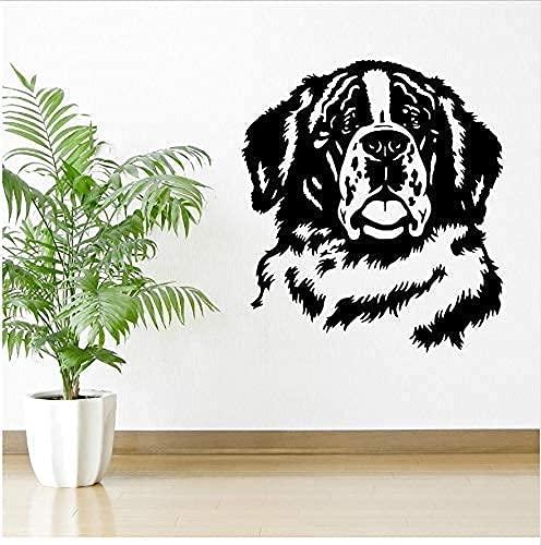 Perro Etiqueta De La Pared 3D Vinilo Etiqueta De La Pared Decoración Del Hogar Arte De La Pared Interior Diseño Mural 57X65Cm