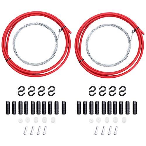 Fippy - Cables de cambio de bicicleta con tapas de extremo universal para bicicleta de montaña y bicicleta de carretera