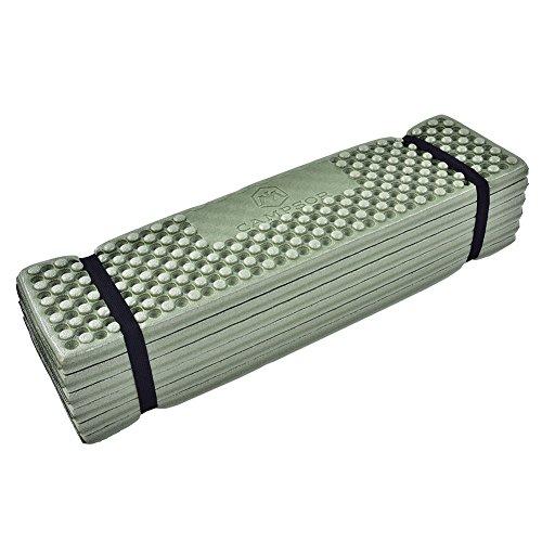 Alomejor Faltbare Schaumstoffmatte wasserdichte Matratzenschaum-Sitzmatte für Camping Wandern und Sportveranstaltungen(Schwarz Grün)