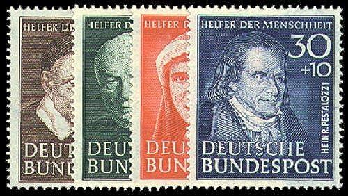 Goldhahn BRD Nr. 143-146 postfrisch  Wohlfahrt 1951 geprüft Schlegel Briefmarken für Sammler