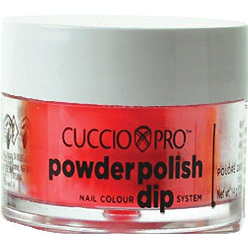 Cuccio Neon Red Nail Color Dip System Duiken poeder